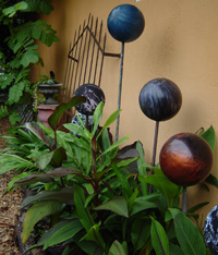 bowling ball sculpture