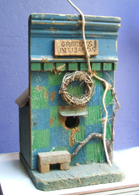 Recycled wood birdhouse by Brenda Kyle