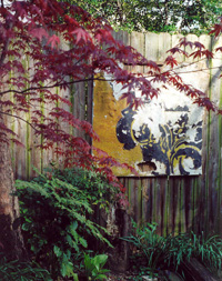 Recycled Garden painting on fence
