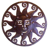 octopus sun oil drum carving from Haiti