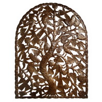 Tree of life recycled oil drum carving from Haiti