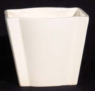 Art Deco Vase, White